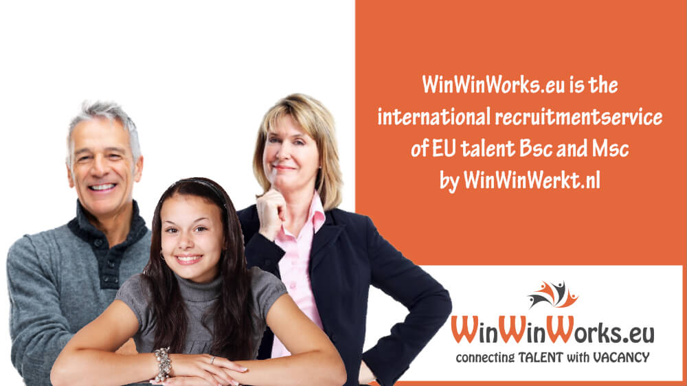 WinWinWorks.eu is the international recruitmentservice by WinWinWerkt.nl.